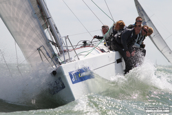 J/97E sailing JCup off Cowes, Isle of Wight, England