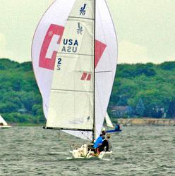 J/70s sailing Bacardi Newport regatta
