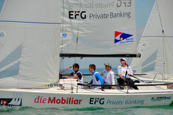 J/70 woman skipper in Swiss sailing league