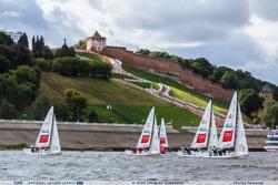 J/70s sailing on Volga River- Russia