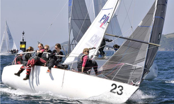 Women's J/24 sailing team from Germany