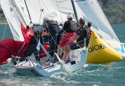 Alcatel J/70 Worlds sailing past mark