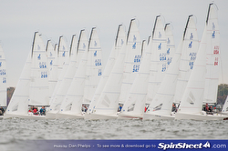 J/70s sailing Fall Brawl in Annnapolis