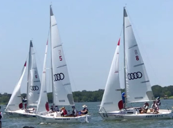 J/22s sailing match race champs