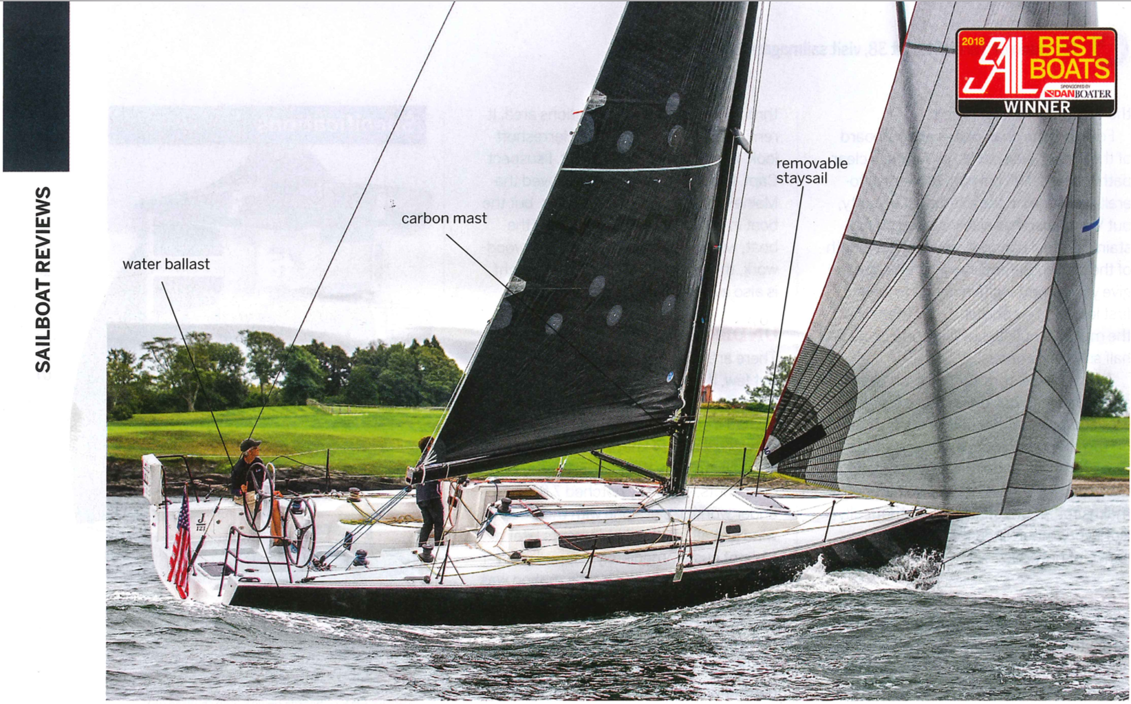 J/121 SAIL magazine guide review