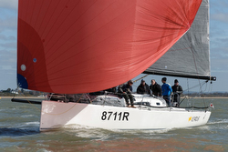 J/111 sailing on Solent- Warsash Spring Series