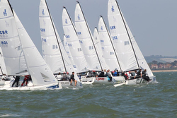J/70s sailing UK Nationals on Solent, England