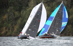 J/122E and J/160 sailing Vashon Island race