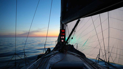 J/111 Blur.se sailing off Sweden twilight zone