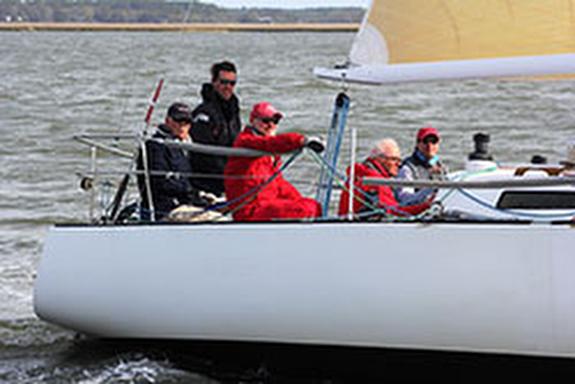 J/35 sailing Charleston Harbor during Race Week