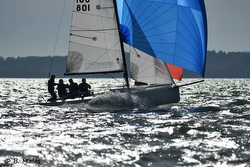 J/70s sailing Hamble series