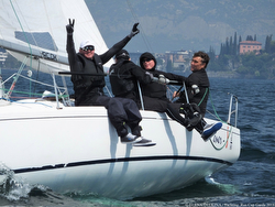 J/80 sailing Lake Garda