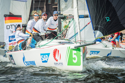 German J/70 Sailing League action- Berlin