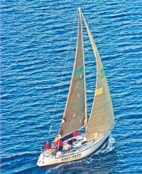 J/34 IOR sailboat- Knee Deep from Lake Erie