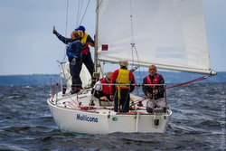 J/24 Mollicona sailing off Chiavari, Italy