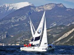 J/80s sailing Yachting Russia Cup on Lago di Garda, Italia