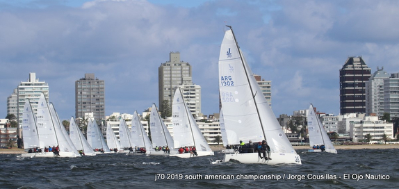 J/70s sailing off Punta del Este, Uruguay