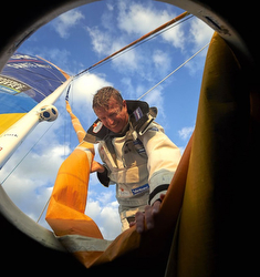 Jean-Pierre Dick- sailing Vendee Globe