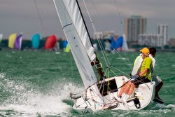 J/70 Spring- sailed by Dave Franzel from Boston