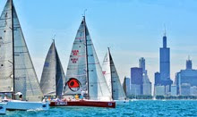 J/111s starting off Chicago waterfront