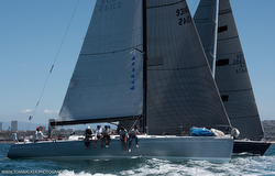 J/145 Radio Flyer sailing Newport Ensenada Race