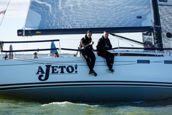 J/122E Ajeto sailing Netherlands North Sea doublehanded