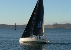 J/88 sailing off Hobart, Tasmania