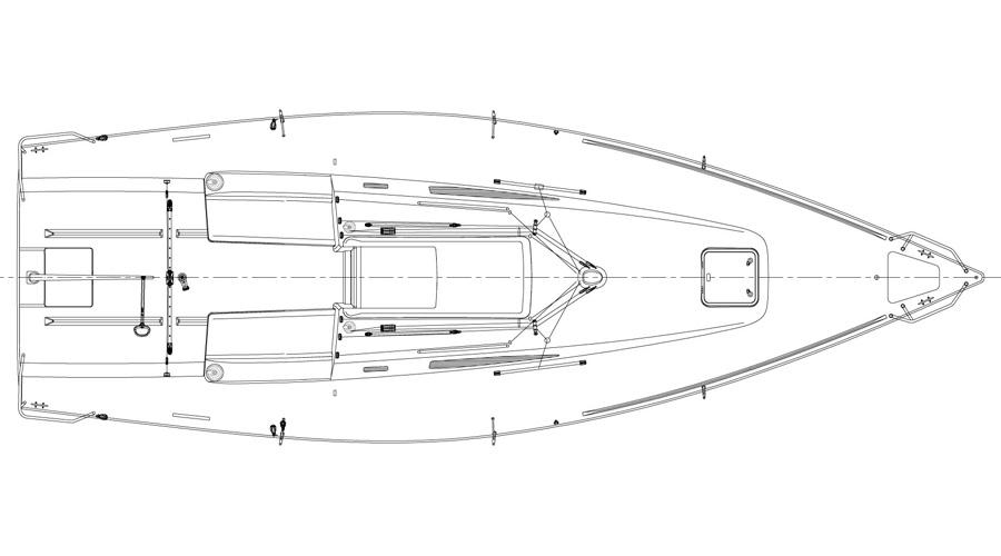 J/99 offshore speedster deckplan
