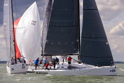 J/111 rounding mark at Worlds in Cowes, England