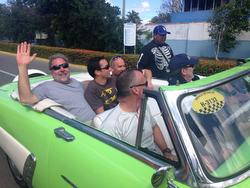 J/120 Carinthia crew enjoy Havana, Cuba taxi cab