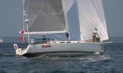 J/122 sailing Marblehead Halifax race