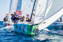 Danish women's sailing team at Porto Cervo, Italy