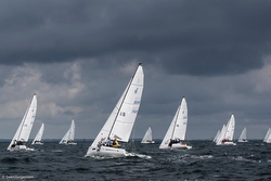 J/70s sailing in storm- Kiel, Germany