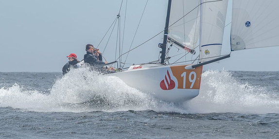 J/70 sailing off Chile