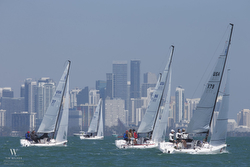 J/70s sailing Bacardi Cup off Miami