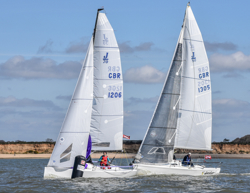J/70 and J/80 round mark at Warsash