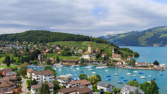 Speiz, Switzerland on Lake Thun