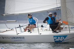 French woman skipper at J/80 Sailing League