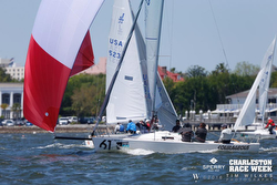 J/80s sailing Charleston Race Week