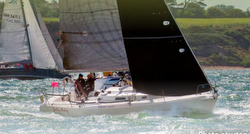 J/105 sailing JP Morgan Round Island Race