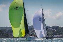 J/111s sailing Cowes Week