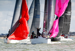 J/88s sailing on the Solent