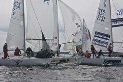 J/24s sailing at Kieler Woche- Germany