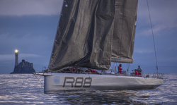 Maxi's becalmed in Fastnet Race