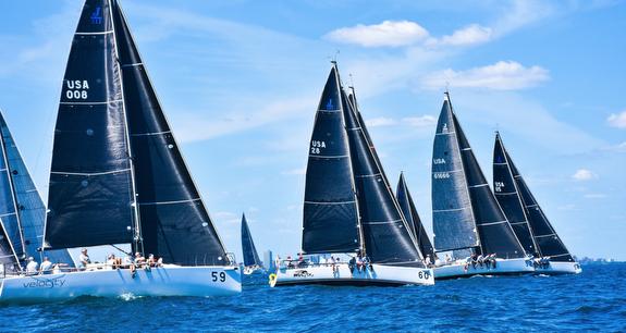 J/111 sailing Worlds off Chicago