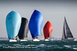 J/109s sailing Hamble Series- England