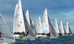 J/24s sailing off start at Vic  States