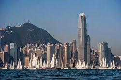 Hong Kong J/80s sailing