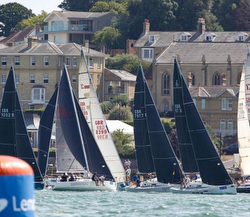 J/97s sailing off Cowes, England
