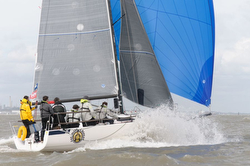 J/88 spinnaker reach at Warsash series